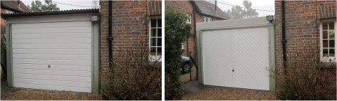 replacement garage roof, fascias and main door