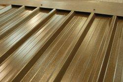 steel plastisol sheet anti-condensation treated to the underside